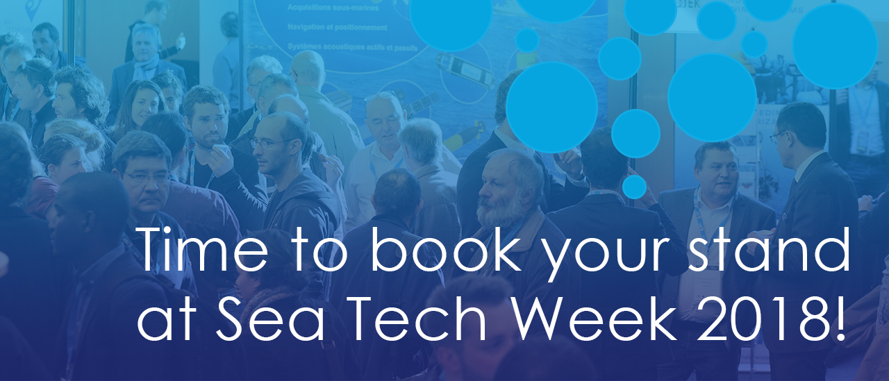 Book your stand at Sea Tech Week exhibition