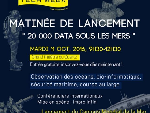 Sea Tech Week opening session (October, 11th 2016, 09:00 - 12:30, Grand theater)